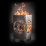 1. FCK Feuerkorb - mit Feuer