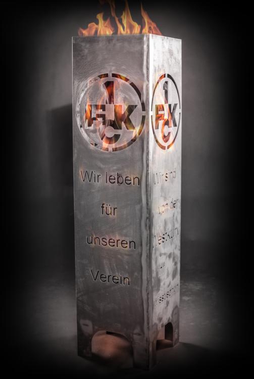 1. FCK Feuersäule - Modell FAN - mit Feuer