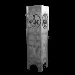 1. FCK Feuersäule Modell FAN - Seitenansicht