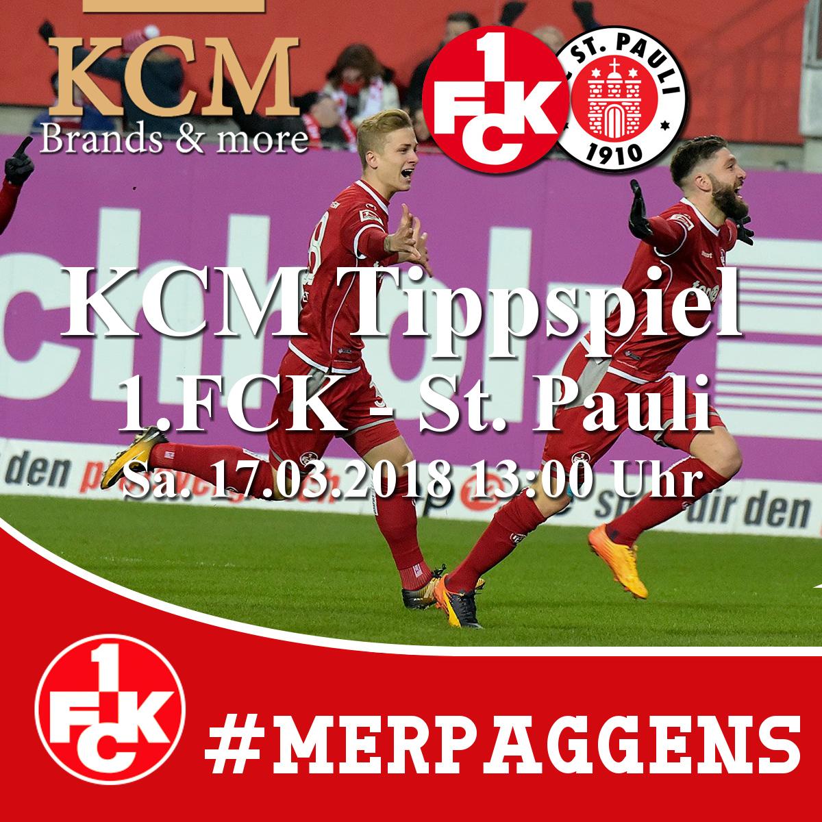 KCM Tippspiel 1.FCK – St. Pauli 17.03.2018